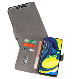 Bookstyle Wallet Cases Hoesje Samsung Galaxy A80 / A90 Grijs