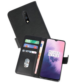 OnePlus 7 Hoesje Kaarthouder Book Case Telefoonhoesje Zwart