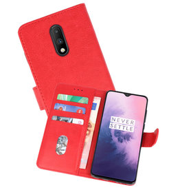 Bookstyle Wallet Cases Hoesje OnePlus 7 Rood