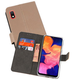 Wallet Cases Hoesje Samsung Galaxy A10 Goud