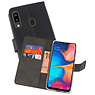 Wallet Cases Hoesje Samsung Galaxy A20 Zwart