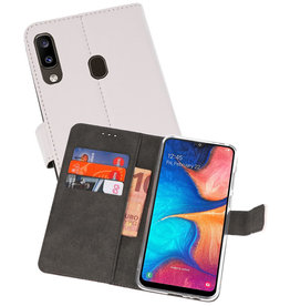 Wallet Cases Hoesje Samsung Galaxy A20 Wit