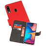 Wallet Cases Hoesje Samsung Galaxy A20 Rood