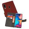 Wallet Cases Hoesje Samsung Galaxy A20 Bruin