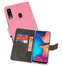 Wallet Cases Hoesje Samsung Galaxy A20 Roze