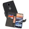 Wallet Cases Hoesje Nokia 3.2 Zwart
