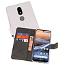 Wallet Cases Hoesje Nokia 3.2 Wit