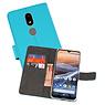 Wallet Cases Hoesje Nokia 3.2 Blauw