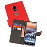 Wallet Cases Hoesje Nokia 3.2 Rood