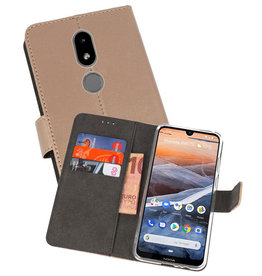 Wallet Cases Hoesje Nokia 3.2 Goud
