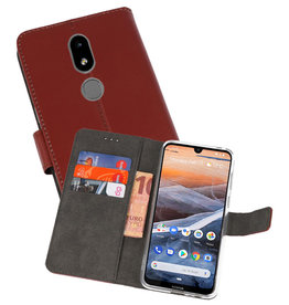 Wallet Cases Hoesje Nokia 3.2 Bruin
