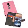 Wallet Cases Hoesje Nokia 3.2 Roze