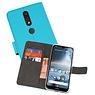 Wallet Cases Hoesje Nokia 4.2 Blauw