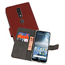 Wallet Cases Hoesje Nokia 4.2 Bruin