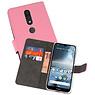 Wallet Cases Hoesje Nokia 4.2 Roze