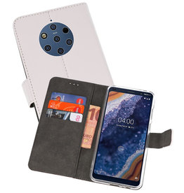 Wallet Cases Hoesje Nokia 9 PureView Wit