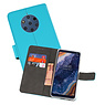 Wallet Cases Hoesje Nokia 9 PureView Blauw