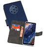 Wallet Cases Hoesje Nokia 9 PureView Navy