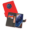 Wallet Cases Hoesje Nokia 9 PureView Rood