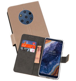 Wallet Cases Hoesje Nokia 9 PureView Goud