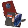 Wallet Cases Hoesje Nokia 9 PureView Bruin