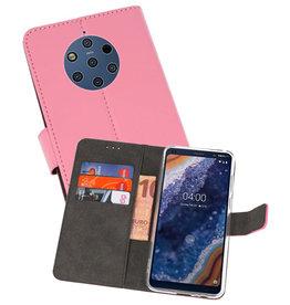 Wallet Cases Hoesje Nokia 9 PureView Roze