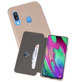Slim Folio Case Samsung Galaxy A40 Goud