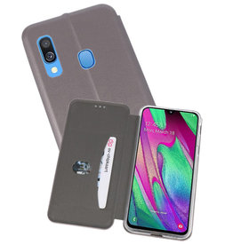 Slim Folio Case Samsung Galaxy A40 Grijs