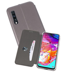 Slim Folio Case Samsung Galaxy A70 Grijs