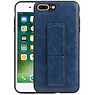 Grip Stand Hardcase Backcover iPhone 8 / 7 Plus Blauw