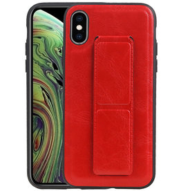 Grip Stand Hardcase Backcover iPhone XS / X Rood
