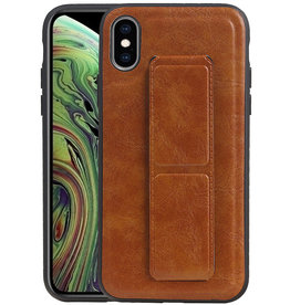 Grip Stand Hardcase Backcover iPhone XS / X Bruin