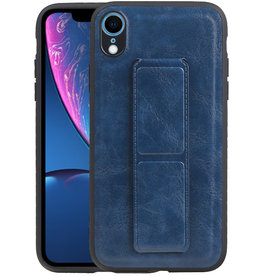 Grip Stand Hardcase Backcover iPhone XR Blauw