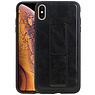 Grip Stand Hardcase Backcover iPhone XS Max Zwart