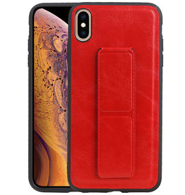 Grip Stand Hardcase Backcover iPhone XS Max Rood