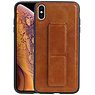Grip Stand Hardcase Backcover iPhone XS Max Bruin