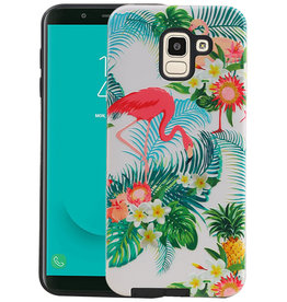 Flamingo Design Hardcase Backcover Samsung Galaxy J6