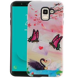 Vlinder Design Hardcase Backcover Samsung Galaxy J6