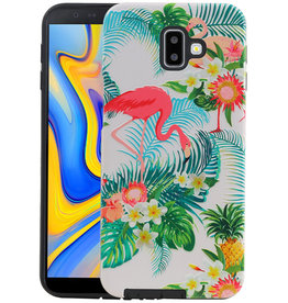 Flamingo Design Hardcase Backcover Samsung Galaxy J6 Plus