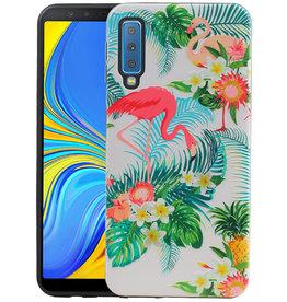 Flamingo Design Hardcase Backcover Samsung Galaxy A7 2018