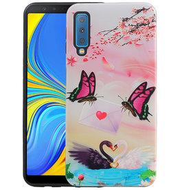 Vlinder Design Hardcase Backcover Samsung Galaxy A7 2018