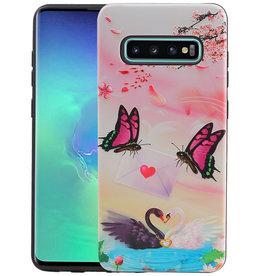 Vlinder Design Hardcase Backcover Samsung Galaxy S10