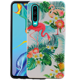 Flamingo Design Hardcase Backcover Huawei P30