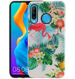 Flamingo Design Hardcase Backcover Huawei P30 Lite / Nova 4E