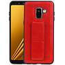 Grip Stand Hardcase Backcover Samsung Galaxy A8 (2018) Rood
