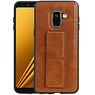 Grip Stand Hardcase Backcover Samsung Galaxy A8 (2018) Bruin