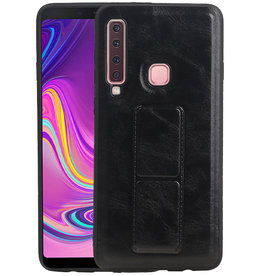 Grip Stand Hardcase Backcover Samsung Galaxy A9 (2018) Zwart