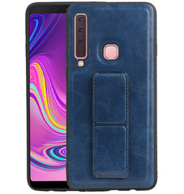 Grip Stand Hardcase Backcover Samsung Galaxy A9 (2018) Blauw