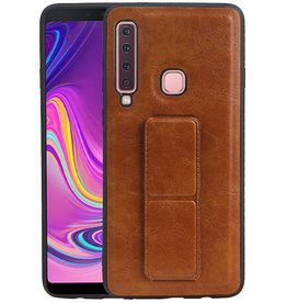 Grip Stand Hardcase Backcover Samsung Galaxy A9 (2018) Bruin