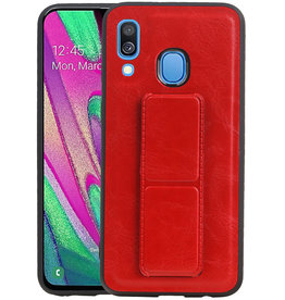 Grip Stand Hardcase Backcover Samsung Galaxy A40 Rood